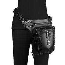PU Leather Waist Bag Vintage Gothic Steampunk Fanny Shoulder Waist Leg Bag Pack