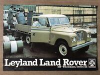 "1974 Leyland Land Rover 109"" Series III original Australian sales brochure"
