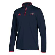 adidas Mens Washington Capitals Quarter Zip Authentic Pro Wind Shirt 2XL
