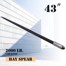 "43"" 2000 lbs Capacity Square Hay Bale Spear Heavy Duty Spike Fork Nut"