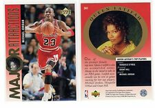 1X MICHAEL JORDAN 1995 96 Upper Deck #341 NMMT Lots Available Queen Latifa