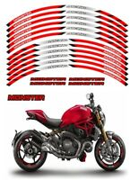 Motorcycle stripes Wheel Hub Rim Strip Sticker Decal For Ducati Monster
