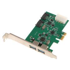 PCI-E a 2 Puerto USB3.0 Hub 2 puertos SATA 3.0 Adaptador de tarjeta de expansión PCI Express