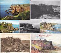 Northern Ireland Dunluce Castle Co. Antrim Postcards - 7 cards - Sold Singly.