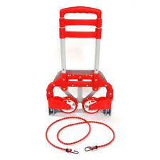 Red Folding Collapsible Aluminum Cart Dolly Hand Push Truck Trolley Luggage