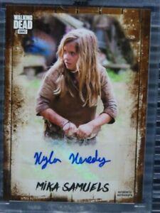 2018 Topps AMC The Walking Dead Mika Samuels Auto Autograph #1/25 Z157