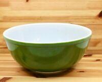 Vintage PYREX Avocado Green 4 Quart Mixing Ovenware Nesting Bowl