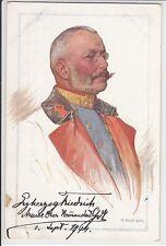 AK Erzherzog Friedrich, 1 WK, um 1914, Künstler O. Brüch