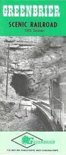 1975 Photo Brochure GREENBRIER SCENIC RAILROAD Ronceverte West Virginia Cass