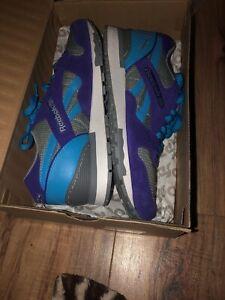 Reebok GL-6000 Classic Athletic Sneaker Mens Sz 10 Shoes Gray Blue Purple Suede