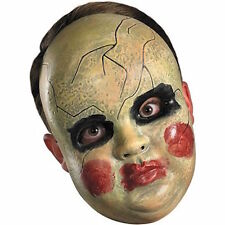 SMEARY DOLL FACE MASK PURGE GREEN BLACK RED Halloween Creepy