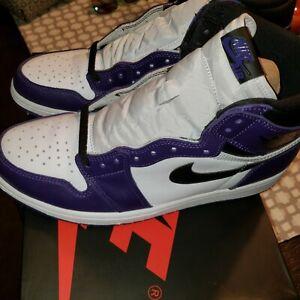 New Nike Air Jordan 1 Retro High OG Court Purple Men's Size 11 555088-500