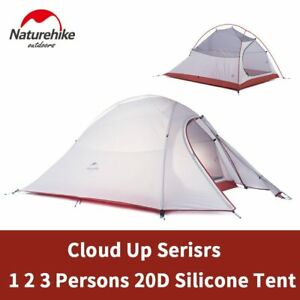 Naturehike Cloud Up Camping Tent 1-3 Persons Ultralight 20D Silicone / 210T Poly