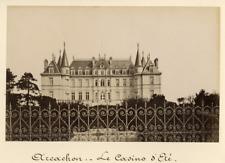 France, Arcachon, Le Casino d'Eté  Vintage albumen print.  Tirage albumin