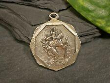 Große Pilger Medaille Anhänger Tracht Oktagon Christopherus Gott Schütze Dich