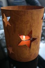 COLONNE H.21 Lanterne étoiles métal-rouille PHOTOPHORE BOUGEOIR DE TABLE LUSTRE