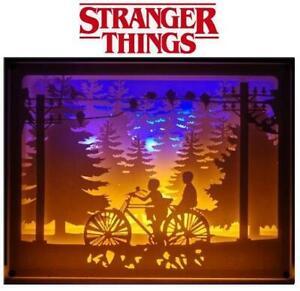 Stranger Things Bike LED USB Light Framed Box Scene Night 3D Sculpture 11