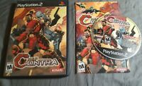 NEO CONTRA Sony PlayStation 2 PS2 COMPLETE Tested RARE Excellent FREE SHIPPING!!