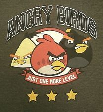 Angry Birds T-shirt L large gray Fifth Sun just one more level video games