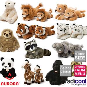 Aurora MIYONI WILDlife PLUSH Cuddly Soft Toy Teddy Kids Gift Brand New