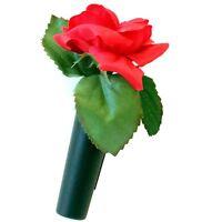 HR / RICHTER Auto Vase Blumenvase ROTE ROSE mit Befestigung