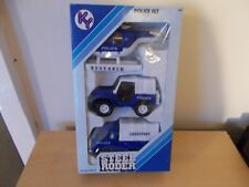 Kai Yip 4405 Steel Roder Police Set - Boxed (Helicopter, Jeep & Truck)