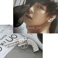 Korean Tohoshinki DBSK TVXQ Micky Yoochun Gun Earring + Gift Box  Free Shipping