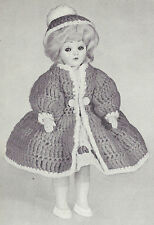 Vintage Crochet PATTERN to make 8 inch Doll Clothes Dressy Coat Hat