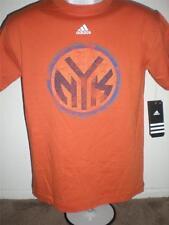 New-Mended- Nueva York Knicks Youth Mediano (M 10/12) Naranja Adidas Camisa
