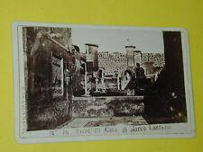 carte de visite   POMPEI n° 74 phot G.DE LUCA NAPLE photo photographie