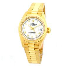 ROLEX 18K Yellow Gold 26mm Lady President Datejust 69178 Box Warranty MINTY