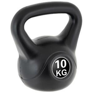 MAXXIVA Kettlebell Kugelhantel 10kg schwarz Krafttraining Fitness Rundhantel