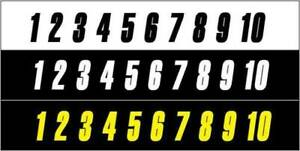 STICK ON NUMBERS 4 INCH BLACK OR WHITE SELF ADHESIVE - MADE IN AUSTRALIA