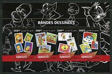 DJIBOUTI 2016 COMIC CARTOON CHARACTERS STAMPS ON STAMP SHEET MINT NH