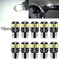 10 T10 CAR BULBS LED ERROR FREE CANBUS 8 SMD XENON WHITE W5W 501 SIDE LIGHT BULB