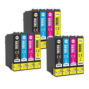 603XL Ink Cartridges  Epson XP-3100 XP-4100 XP-2100 WF-2810 WF-2830 WF2835 LOT
