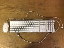 Apple Mac White USB Wired Keyboard Mouse iMAC G3 G4 G5 eMAC A1048 M5769