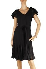 Karen Millen Dress , BNWT,  Tea Cap Sleeves , Tie Waist UK10  (DA023)    KM9