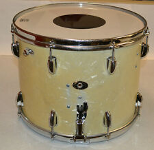 """1958 SLINGERLAND 12""""X16"""" SNARE DRUM W/ DOUBLE PADDED TONE CONTROL-MARINE PEARL"""