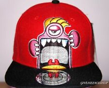Monster snapback, baseball cap wool affect hip hop street hats red adults & kids