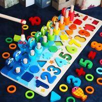 Montessori Math Toys Counting Board Digital Shape Pairing Preschool Learning Toy