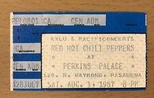 1987 Red Hot Chili Peppers Perkins Palace Pasadena Concert Ticket Stub Flea 206