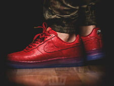 Nike Aire Force 1 CMFT Red Ostrich Leather Luxury 805300-600 Size 42.5 EU / 9 US