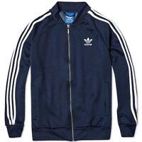 Adidas Originals Mens Superstar Track Jacket Tracksuit Top Zip Navy (#9828)