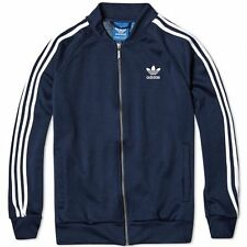 Adidas Originals Mens Superstar Track Jacket Tracksuit Top Zip Navy (#9828)