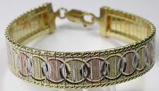 Bracelet  Italian Tricolor Sterling Silver Vermeil & Rose Gold Wedding Bridal