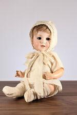 "12"" Armand Marseille Baby Doll Bisque Head Composition Body 1920s G Borgfeldt"