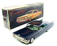 "1961 Cadillac Model 62 Navy Blue Hardtop 14"" (35.6 cm) w/Original Box Yonezawa"