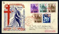 Sobre primer dia circulación Sello España 1950 Pro Tuberculosos Cruz de Lorena