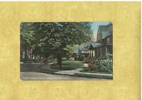 CT Southport 1908-29 antique postcard HOME ON PEQUOT AVE LOOKING NORTH CONN